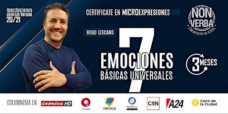 Certificación en Microexpresiones Básicas y Universales con Hugo Lescano entradas