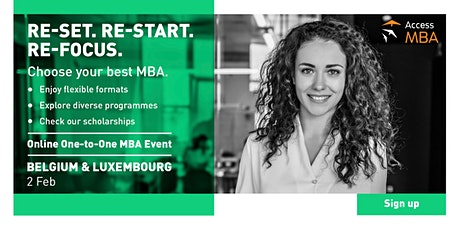Online One-to-One MBA Event in Belgium and Luxembоurg | Feb 2, 2021 tickets