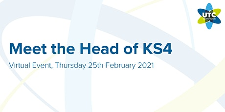 UTC Warrington: Meet the Head of KS4 tickets