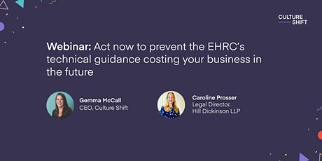 Act now to prevent the EHRC's technical guidance costing you in the future tickets