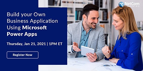 Webinar - Build your Own Business Application Using Microsoft Power Apps tickets