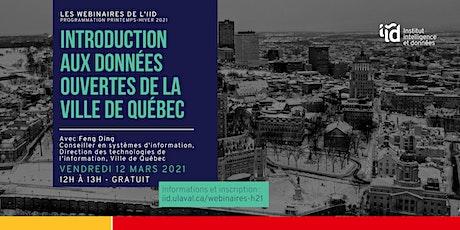 Introduction aux données ouvertes de la Ville de Québec tickets