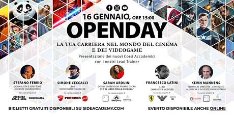 Side Academy Openday Sabato 16 Gennaio 2021 ore 15:00 tickets