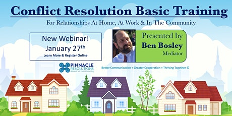 Conflict Resolution Basic Training - For Family, Workplace, & Community tickets
