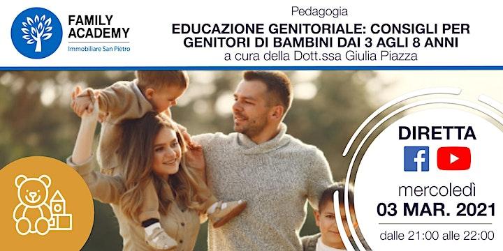 Immagine EDUCAZIONE GENITORIALE: CONSIGLI PER GENITORI DI BAMBINI DAI 3 AGLI 8 ANNI
