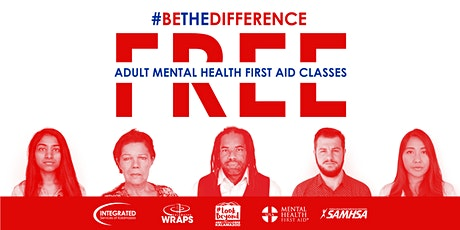 FREE ONLINE WEBINAR: Adult Mental Health First Aid, FEB. 23, 2021 tickets