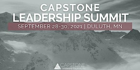 2021 Capstone Leadership Summit (2.5 days) - Duluth, MN tickets