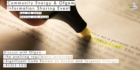Community Energy & Ofgem Information Sharing Event tickets
