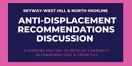Anti-Displacement Recommendations Discussion tickets