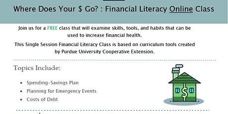 Financial Literacy Single Session Class-Where Does Your $ Go? tickets