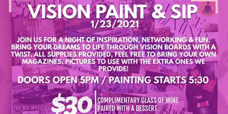 Vision Board Paint & Sip tickets