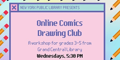 Online Comics Drawing Club for Grades 3-5: Same Words, Different Pictures tickets