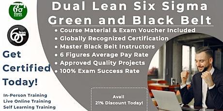 Lean Six Sigma Green & Black Belt Training Program in Irvine tickets