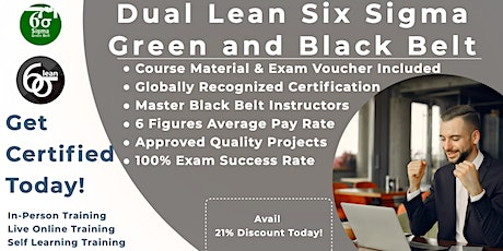 Lean Six Sigma Green & Black Belt Training Program in Mississauga tickets