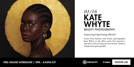 Beauty & Portrait Photography with Kate Whyte tickets