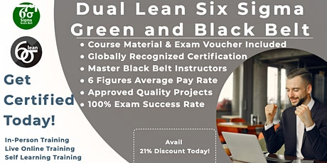 Lean Six Sigma Green & Black Belt Training Program in Pierre tickets