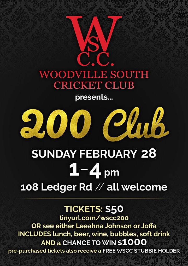 Woodville South Cricket Club - 200 Club image