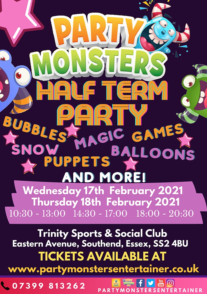 Party Monsters Half Term Party image