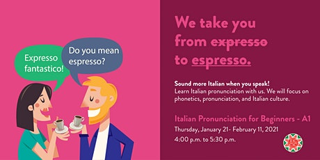 Italian Pronunciation for Beginners tickets