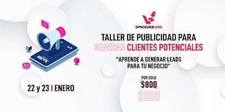 Taller de publicidad para generar clientes potenciales bilhetes
