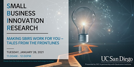 Making SBIRs Work for You – Tales from the Frontlines tickets