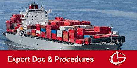 Exporting Procedures Webinar tickets