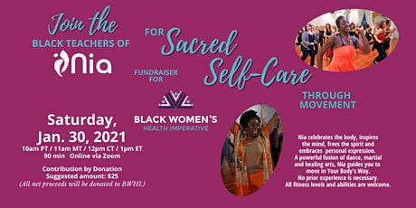 Nia Jam and Fundraiser for The Black Women's Health Imperative tickets