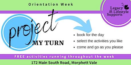 Project My Turn Orientation Week tickets