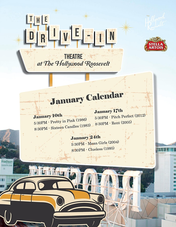 January Drive-In Theatre @ The Hollywood Roosevelt image