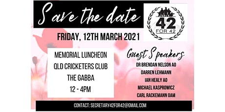42for42 Annual Memorial Luncheon 2021 tickets