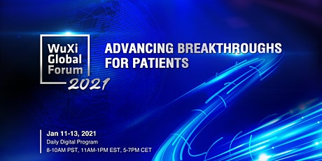 WuXi Global Forum 2021 - Advancing Breakthroughs for Patients tickets