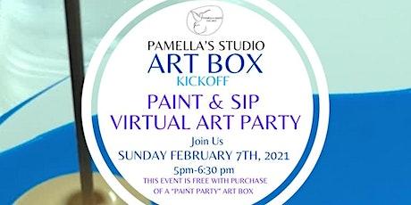 Pamella's Studio ART BOX Kickoff   Paint & Sip Virtual Art Party tickets