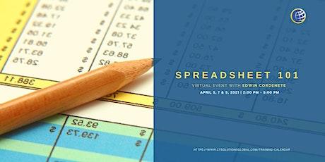 Spreadsheet 101 Full Workshop tickets