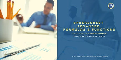 Spreadsheet Advanced Formulas and Functions Full Workshop tickets