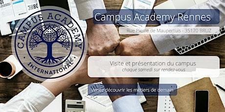 Campus Academy Rennes - visite des locaux billets