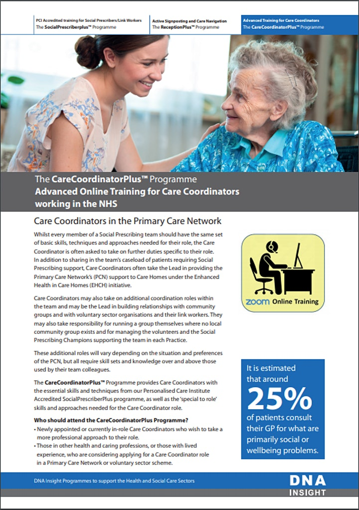 Online CareCoordinatorPlus Course for Care Coordinators image