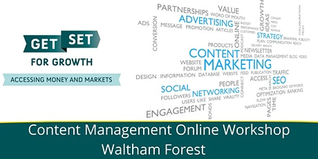 Content Management Workshop - Waltham Forest tickets