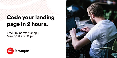 [Free workshop ] Design your first landing page in 2 hours! tickets