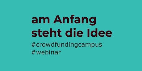 Crowdfunding Webinar: Neues Jahr - Neue Ideen? Tickets