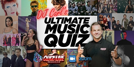 DJ Carl's Ultimate Music  Quiz Live on Zoom tickets