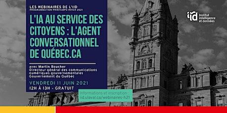 L'IA au service des citoyens: l'agent conversationnel de Quebec.ca tickets