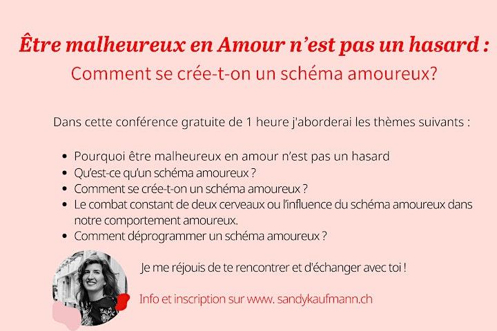 """Conférence """"Être malheureux en amour n'est pas un hasard"""" image"""