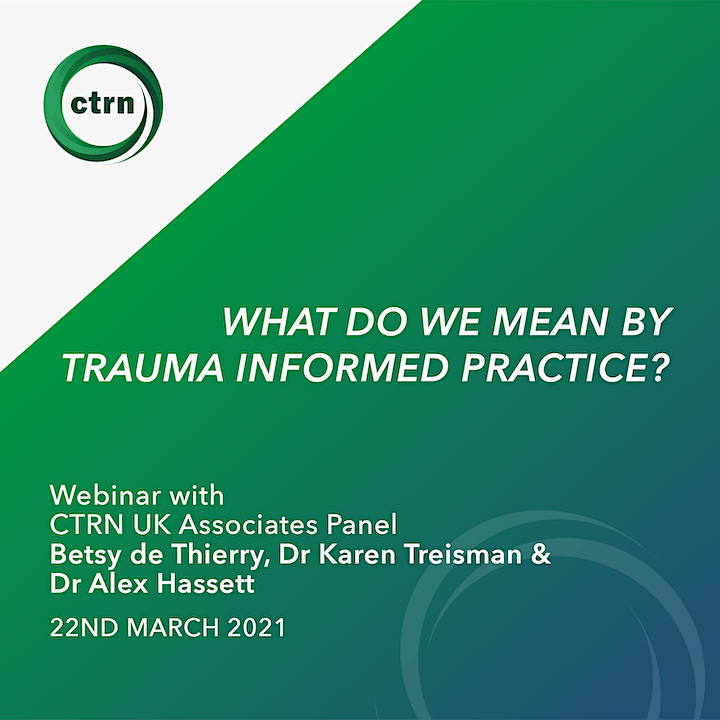 What do we mean by trauma informed practice? image