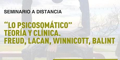 """""""Lo psicosomático"""" teoría y clínica. Freud, Lacan, Winnicott, Balint entradas"""