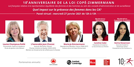 Panel virtuel : 10e anniversaire de la loi Copé-Zimmermann tickets