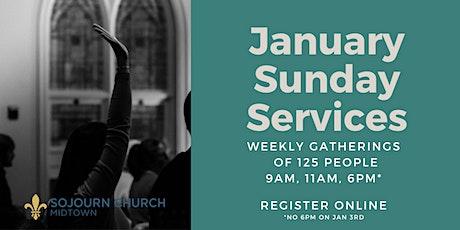 January 31,2021  Sunday Service Registration tickets