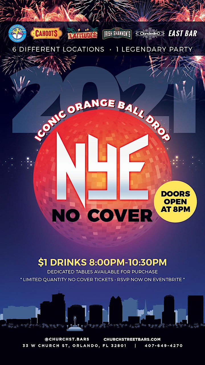 New Years Eve 2021 | One Legendary Party | Six Different Locations image
