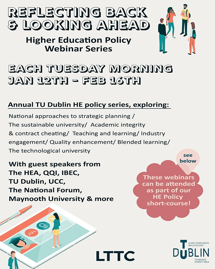 'Reflecting Back & Looking Ahead' TU Dublin HE Policy Series 2021 image
