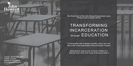 JHA's Toast to Justice 1/26: Transforming Incarceration Through Education tickets
