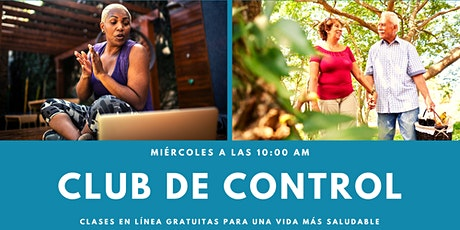 Club de Control: Habilidades de auto control diabetes tickets
